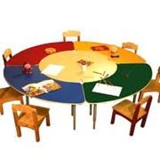 Красочная мебель для детских садов фото