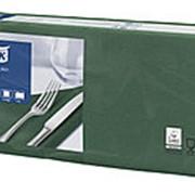 Салфетки бумажные Tork Advanced, 2-слойные 33х33, 200шт/уп, темно-зеленые 477214 фото
