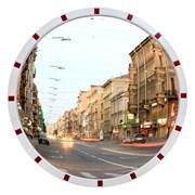 Зеркало безопасности уличное,950 мм, световозвращ. фото