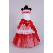 Нарядное детское платье, р 110-116 фото