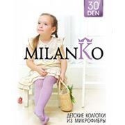 Детские ажурные колготки из микрофибры MilanKo фото