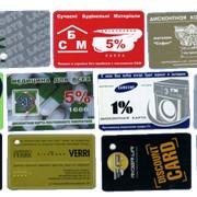Печать пластиковых и дисконтных карт фото