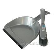Комплект для уборки (совок с резинкой+щетка) Optima /33420/ фото