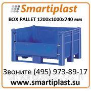 11-100-DA контейнер пластиковый 1200х1000х740 с верхней съемной дверцей фото