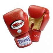 Перчатки боксерские FBGV-6S Twins Dragon кожа 10 oz Красные фото