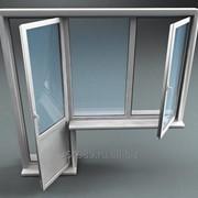 Окна из профиля Kurtoglu (Турция) без термомоста фото