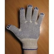 Перчатки рабочие трикотажные с ПВХ фото