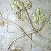 Барельеф, лепка виноград фото