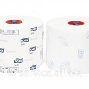 Т6 - Tork туалетная бумага Mid-size в миди рулонах мягкая - 27 рул/кор, 2 слоя фото