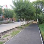 Мощение тротуаров и садовых дорожек фото
