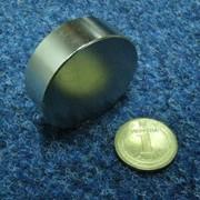 Неодимовый супермагнит - шайба фото