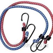 Шнур Зубр крепежный резиновый, со стальными крюками, 100см, 2шт Код:4-40507-100 фото