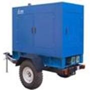 Установка дизель-генератора заказчика на прицеп фото