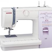 Машины бытовые швейные Швейная машина JANOME 415 (15 строчек, нитевдеватель, регуляторы длины и ширины стежка, жесткий чехол) фото