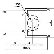 """83. Профиль алюминиевый для шкафов купе """"ASIAL"""" горизонтальный верхний, цвет венге матовый, термоперевод фото"""