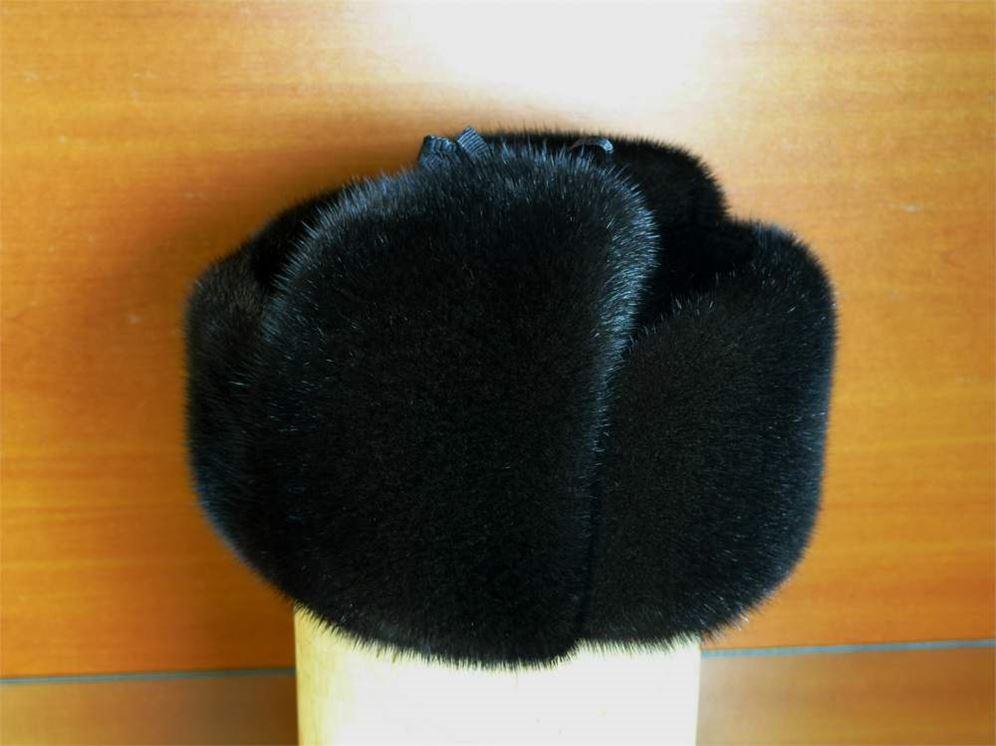 Меховые мужские головные уборы зимние норковые шапки — ушанки. фотография a3e0c6870ad1f
