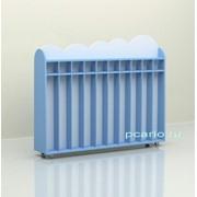 Шкаф для полотенец напольный передвижной 10 секций ламинат МД-07.05-Л фото