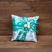 Мятная подушечка для колец с розочками, арт.CR-004 фото