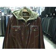 Зимняя куртка из натуральной кожи фото
