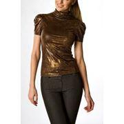 Топ нарядный 182 Трикотин коричневый Кракле фото