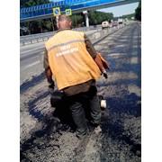 Базальтоволокнистая армирующая геосетка для дорожных работ фото