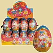 Шоколадное яйцо Зайчишки плутишки, 6*24 20гр фото