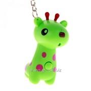 Брелок-кричалка световой Жираф , цвета МИКС фото