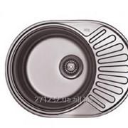 Мойка для кухни круглая с мини полкой врезная 57*45 фото