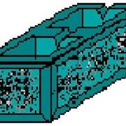 Камень бетонный стеновой облицовочный СБУ 390 390х190х190 серый фото