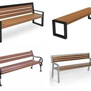 Металлические скамейки  фото