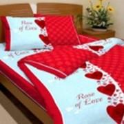 Ткань постельная Бязь 100 гр/м2 150 см Набивная Роза любви 1080-3/S171 TDT фото