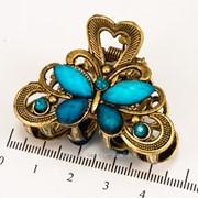 Краб (5 см.) бронзовый с цветными камнями 213276(50) фото