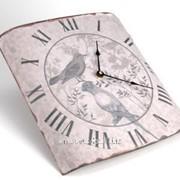 Часы Птицы гравюра фото