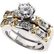 Элегантное двойное кольцо с бриллиантами SI1/G 1.01Ct фото