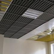 Монтаж подвесного потолка Грильято фото