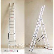 Трехсекционная лестница-стремянка 3х10 фото