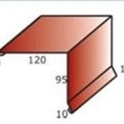 Торцевая планка (фронтон) из оцинкованной стали с полимерным покрытием фото