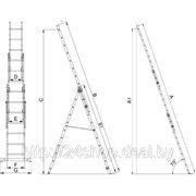 Лестница трехсекционная универсальная Elkop Hobby VHR H 3*11 фото