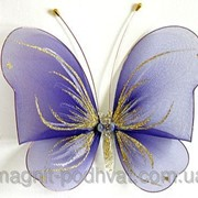 Бабочка большая для штор и тюлей фиолетовая фото