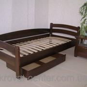 Кровать Марта (190\200*90), массив - сосна, ольха, дуб фото