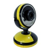 A-8 веб камера, 1,3 Mpix, USB 2.0, Жёлто-чёрная, Крепление для мониторов, Подсветка: Есть фото