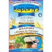 Каша Карапуз молочная мультизлаковая яблоком и персиком фото