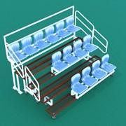 Трибуна спортивная складная, многоярусная (сиденья пластиковые)/расчет на 1 посадочное место ТЗПС фото