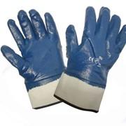 Перчатки нитриловые манжет-крага полное покрытие фото