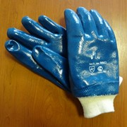 Перчатки нитриловые манжет-резинка полное покрытие фото