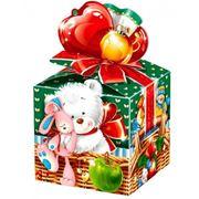 Подарок новогодний с мишкой фото