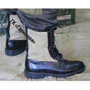 Ботинки с высокими берцами с брезентовыми вставками фото