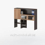 Надстройка для стола, Васко СОЛО-007 Корпус венге, фасад слива/стекло фото