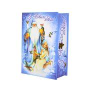Упаковка деревянная новогодняя Книга С Новым годом фото