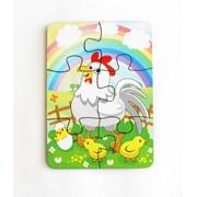 Пазл 6 элементов Курица и радуга фото